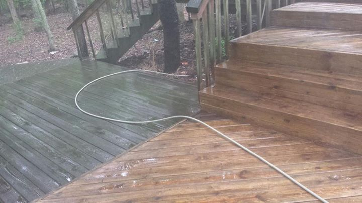 Wood Deck Pressure Washing Indian Trail, SC