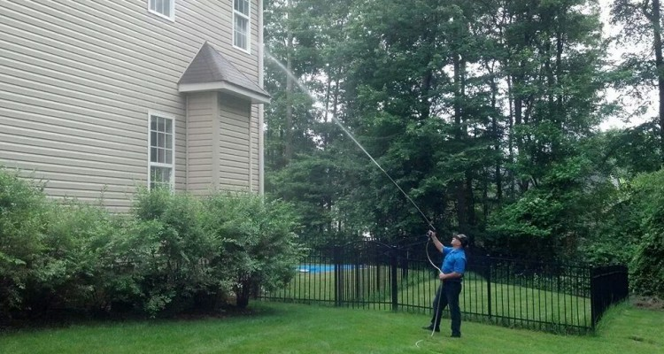 Two Story Residential Pressure Washing Wendover NC