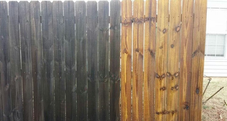 Wooden Fence Pressure Washing Dillworth NC